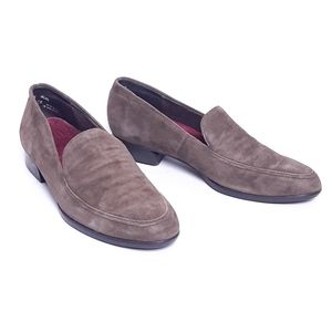 Munro brown suede leather Harrison comfort loafers